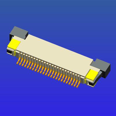 0.5mm间距半包上接抽屉式FPC