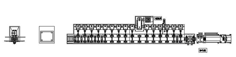 layout of cable tray cold roll forming machine.png