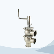 Sanitary manual 3 way divert valve