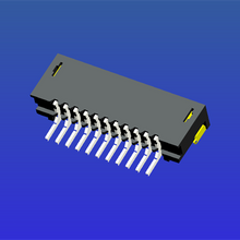 1.0mm间距E型双面接T2卧贴无锁式FPC