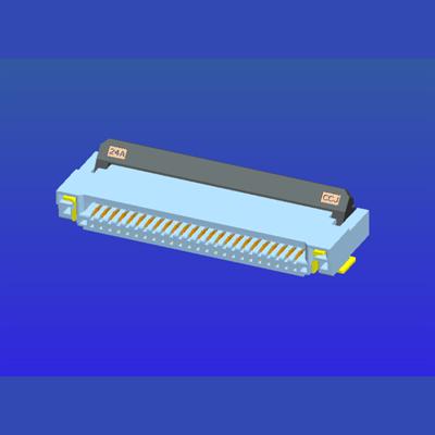 0.5mm间距2.0高前插后掀式FPC
