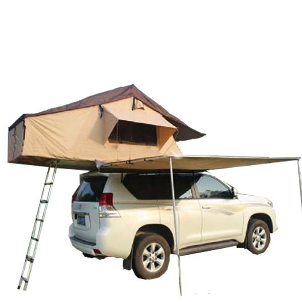 Outdoor Single Layer Portable Car Roof Tent Awning With Telescopic Ladder