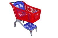 YRD-S175L Plastic Shopping Cart