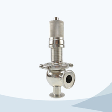 Sanitary ball type manual pressure relief valve