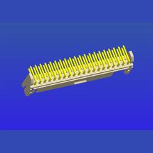 PH2.0mm间距双排带扣T3弯针