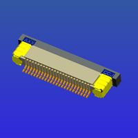 0.5mm间距全包下接抽屉式FPC