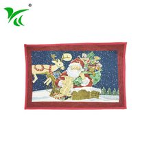 wholesale custom Hangzhou supplier winter Jacquard woven floor mat