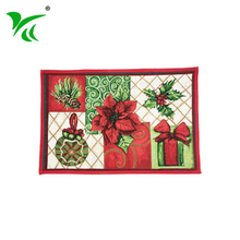 Custom China Square Home Decor anti-dust Jacquard woven floor mat