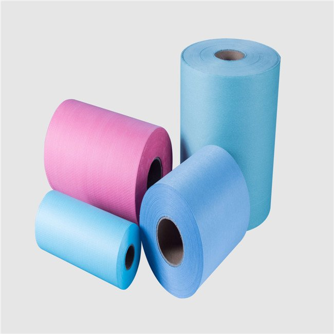 colored woodpulp pp medical wiper raw material nonwoven jumbo rolls