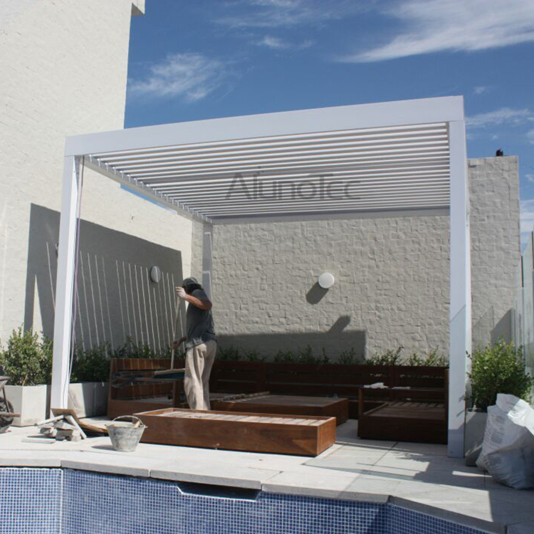 Alunotec aluminum patio louver roof pergulas buy patio for Buy cupola