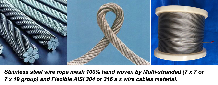 Stainless steel rope mesh for zoo mesh and zoo fence