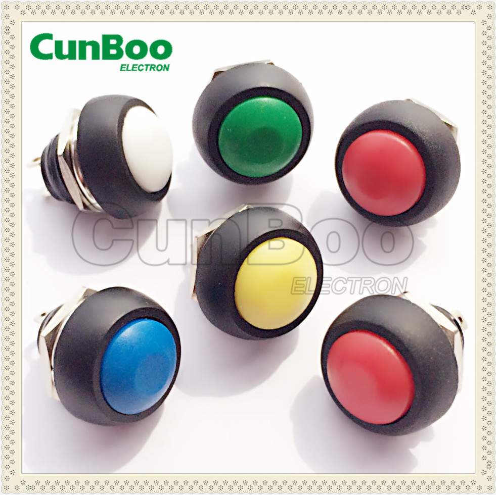 push button switch with waterproof cover