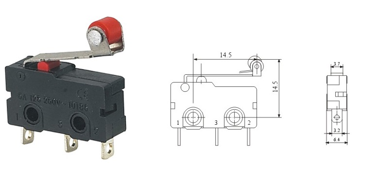 5a push micro switch