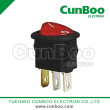 KCD1-13 mini illuminated round rocker switch
