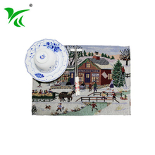 Factory directly custom design tapestry woven table placemat set