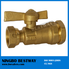High Performance swivel nut Brass Ball Valve compression end (BW-B73)