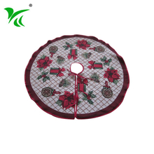 Custom 40 inch Cotton Polyester christmas tree skirts for Decoration
