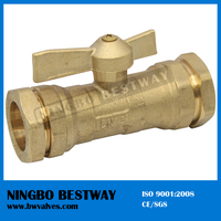 High Performance 1 Inch Brass Ball Valve compression end (BW-B72)