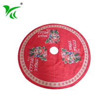 Wholesale Cheap Polyester red and white satin christmas tree skirt