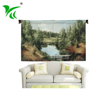 Hangzhou supplier wholesale a wall hanging of heavy hand woven fabric