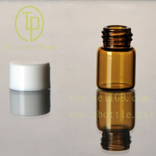TP-1-01 1ml amber screw-neck glass vials with cap