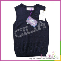 154260104cc7 Factory directly provide handwork branded woolen sweater vest for boys