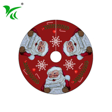 Wholesale custom washable christmas tree skirt for Holiday Decoration