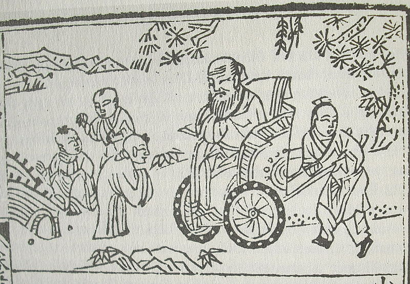 Confucius in a wheelchair_and_children