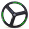 26ER Tri spoke fatbike carbon wheels 90mm width