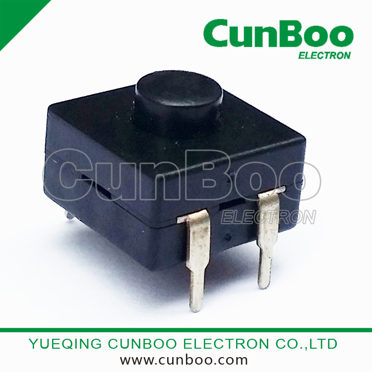 Torch Push Button Switch DC 30V 1A Black