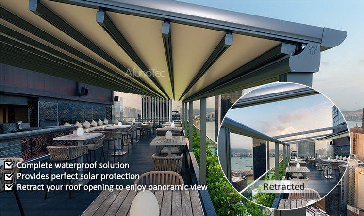 Outdoor Wind Resistance Waterproof Aluminium Pvc