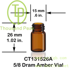 1/4 Dram 5/8 Dram Amber Vial Glass Bottle High Quality 1ml 2ml 3ml Mini Tubular Clear Glass vials