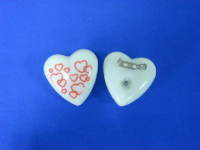 3C Changing Heart Blinking Brooch
