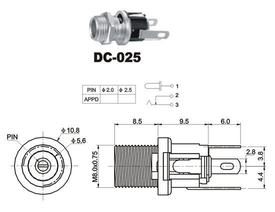 DC-025 12V DC Connector Jack