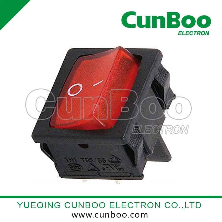 China 6 pins ON-ON dpdt lighted rocker switch,double pole rocker ...