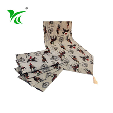 Beautiful design wholesale custom cotton polyester table runner