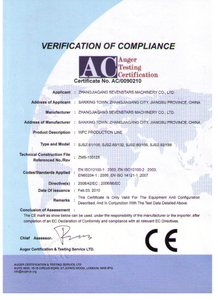 WPC board or profile production line---CE certificate