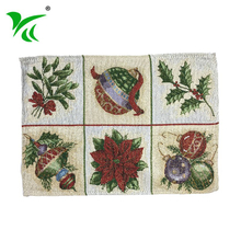 Wholesale customized Jacquard woven fabric table placemat