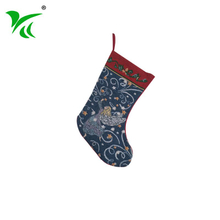Customized Jacquard woven christmas stocking on sale for baby