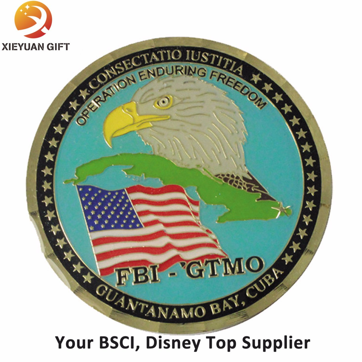 Free Sample Metal Coin with Eagle - Buy Challenge Coin, Souvenir ...