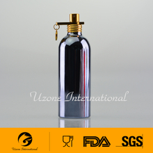 Aluminum material perfume bottle with pump