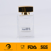 high quality glass perfume bottle with uv cap