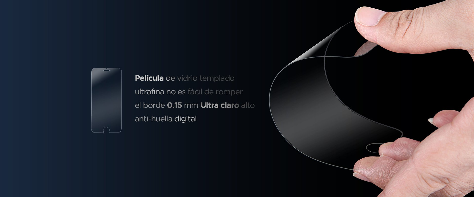 Cristal templado Ultra Thin Film