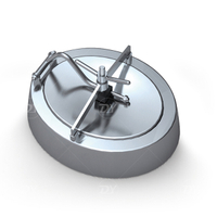 Sanitary Stainless Steel Outward Opening Oval Tank Pressure Manhole Cover