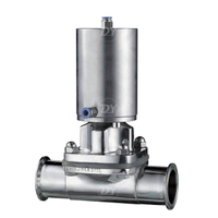Sanitary Stainless Steel Pneumatic Actuated Diaphragm Valve