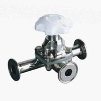 Sanitary SS Clamp 3 Way Diaphragm Operated Valve