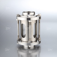 Stainless Steel Sanitary Inline Sight Glass With Protection