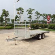 Hot dipped galvanized welded flat truck trailer for industrial