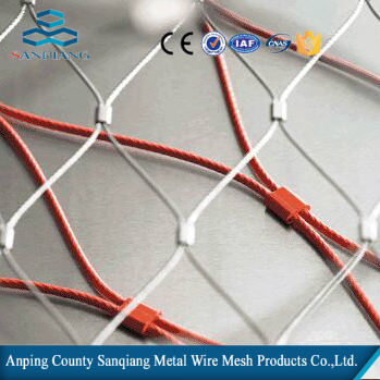 stainless steel wire rope ferrule mesh/safety webnet balustrade for ...
