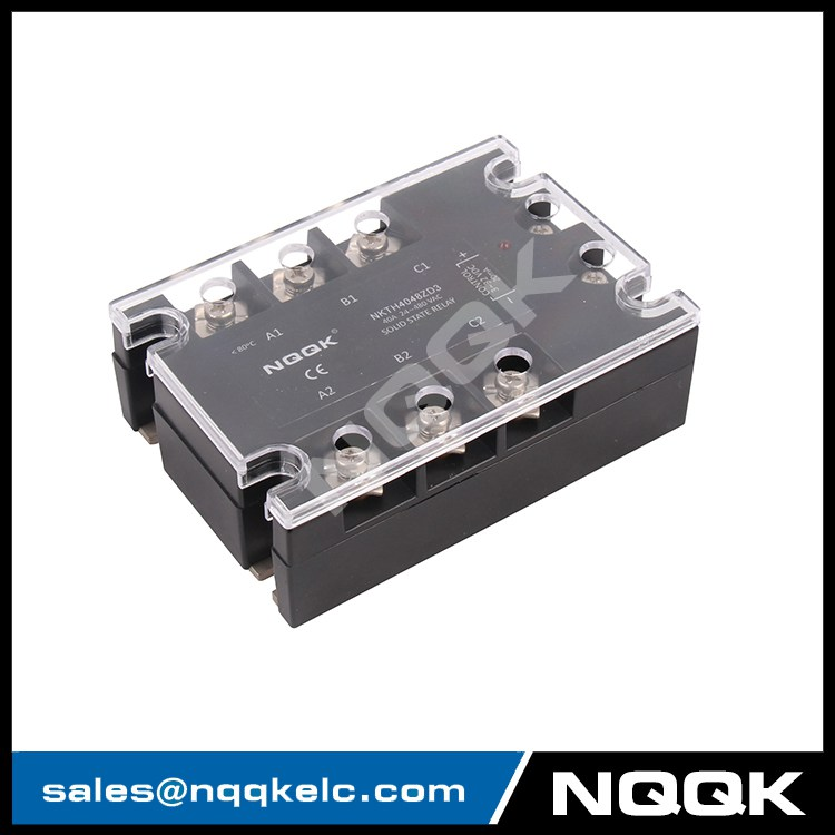 DC or AC control 10 - 120 A three phase solid state relay with LED ...